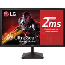 "Monitor LED LG de 27"" FHD 27MK400H-B HDMI/D-Sub/75 HZ - Preto"
