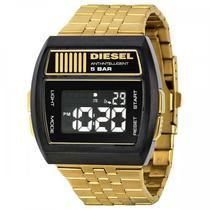 Relogio Diesel DZ7195 Masculino Preto Pulseira Aco Dourada