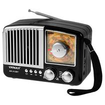 Radio Portatil AM/ FM/ SW Satellite AR-312BT 3W com Bluetooth/ USB/ Auxiliar - Preto/ Prata