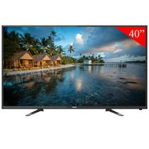 TV LED de 40 Haier LE40B8000D Full HD com HDMI/USB/Conversor Digital/Bivolt - Preto