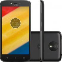 "Smartphone Motorola Moto C Plus XT1723 1GB+16GB Lte Tela 5.0""Cam.8MP+2MP-Preto"