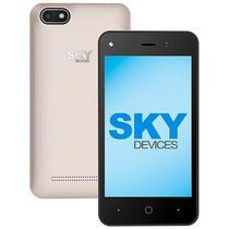 """Smartphone SKY Platinum 4.0 (2100) Dual Sim 4GB Tela 4.0"""" 5MP/1.3MP Os 6.0 - Dourado"""