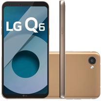 """Smartphone LG Q6 M700A 32GB Lte Dual Sim Tela 5.5"""" Cam.13MP+5MP-Dourado"""
