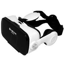 Oculos de Realidade Virtual 3D Mox 3DVR10 com Fone de Ouvido - Preto/Branco