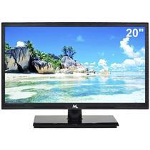 """TV LED Mtek 20"""" MK20CN1 Dig/ HD/ VGA/ USB/ HDMI/ Preto"""