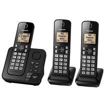 Telefone Sem Fio Panasonic KX-TGC363 com Secretaria Eletronica - Preto