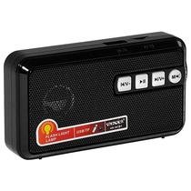 Radio Portatil FM Satellite AR-301BT 1.5W com Bluetooth/Lanterna LED - Preto