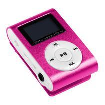 Reprodutor MP3 X-Tech XT-MP801 com Display LCD e Slot para Micro SD - Rosa