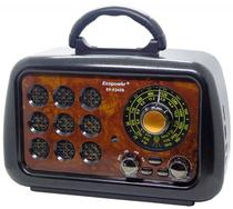 Radio Portatil Ecopower EP-F242B - 3 Bandas - Bluetooth - Preto e Marrom