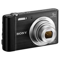 "Camera Compacta Sony Cybershot DSC-W800 20.1MP Tela de 2.7"" - Preta"