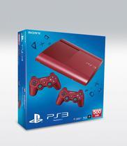 Console Playstation 3 Super Slim 500GB Vermelho Reco c/ 70 Jogos