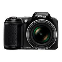 """Câmera Digital Nikon Coolpix L-340 com 20.2MP Tela 3"""" 28X Zoom - Preto"""