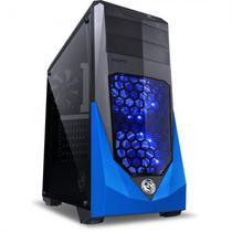 Gabinete Gamer Pcyes Vti LED - Azul (27734)