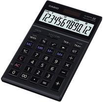 Calculadora Compacta Casio JS-120TVS 12 Dig Retratil Heavy Duty Preto