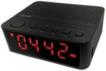 Radio Relogio Ogio Quanta QTRBT050 LED/USB/MP3 - Preto