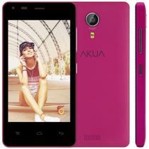 "Smartphone Akua EK4 4GB 3G Dual Sim Tela 4.0"" Cam. 5MP - Rosa"