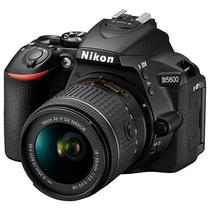 Camera Nikon D5600 24.2MP Bluetooth/Wi Fi/NFC + Lente Af-P DX Nikkor 18-55MM VR - Preta