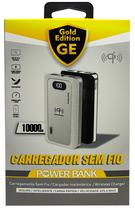 Carregador Portatil Gold Edition GE-199 - USB - Sem Fio - 10000MAH - Preto