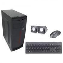 Gabinete Mtek D093B com Kit Teclado / Mouse / Speaker - Preto