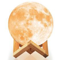 Luminaria Lua Cheia LED - Moon Light 3D