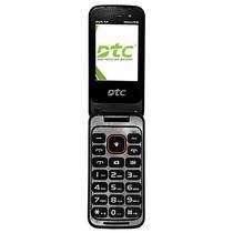 """Celular DTC Selfie Flip (F1) 2G Dual Sim Tela de 2.4"""" VGA (X2) - Preto"""