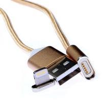 Cabo Mox MO-75 -Lightning para iPhone - Magnetico - Dourado