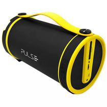 Caixa de Som Pulse SP222 com Bluetooth/FM/Mini Jack 3.5MM Bateria 1.500 Mah - Preto/Amarelo
