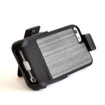 Capa Prodigee para iPhone 5S com Clipe e Suporte para Mesa, 360 Graus, PC+Tpu - Preto