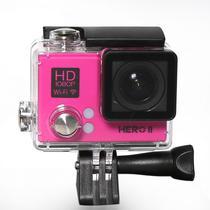 Camera Goal Pro Hero II - com Acessorios - Rosa