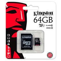 Cartao de Memoria Micro SD Kingston 64GB C10 (Card+Adaptador)