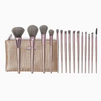 Kit de Pinceis BH Cosmetics Lavish Elegance 15PCS com Estojo