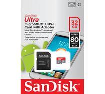 Cartao de Memoria Micro SD 32GB Ultra Sandisk