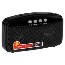 Radio Portatil FM Satellite AR-302BT 2W com Bluetooth/Lanterna LED - Preto