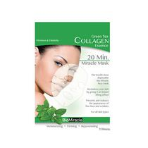 Bio Miracle Collagen Essence Face Mask Green Tea 20G (5 Unidades)
