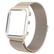 7e388391fc8 Pulseira com Case 4LIFE de Aco Inoxidavel Estilo Milanes para Apple Watch  38MM