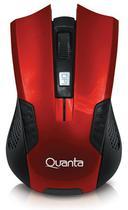 Mouse Quanta MS-W1001 - para Game Sem Fio - Vermelho