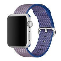 Pulseira 4LIFE de Nylon Listrado para Apple Watch 38MM - Azul e Roxo