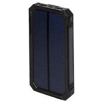 Carregador Portatil Solar Quanta PT-6400 12000MAH Lanterna LED Preto