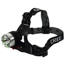 Lanterna Prosper Cree LED T-60 para Cabeca Recarregavel 3500W 1200 Lumens - Preto