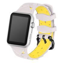 Pulseira 4LIFE de Silicone Diamond para Apple Watch 38MM - Cinza e Amarelo