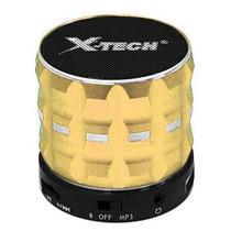 Caixa de Som Portatil X-Tech XT-SB546 com Bluetooth/USB/TF/Mini Jack 3.5MM - Dourado