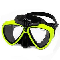 Oculos de Mergulho para Cameras de Acao Telesin DIV-GS2 - Preto/Amarelo