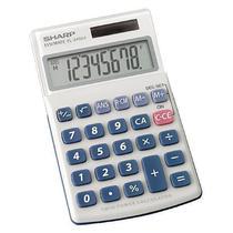 Calculadora Sharp EL-240SAB com Display de 8 Digitos - Branca/Azul