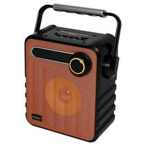 Caixa de Som Satellite AS-3653 Bluetooth USB e FM Laranja