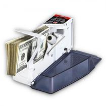 Contador e Detector de Dinheiro Portatil Quanta QTCDDP20 Bivolt - Branco