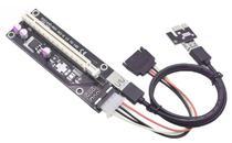 Adaptador Riser PCI-Express 1X para 16X Cabo USB 3.0 60CM Preto