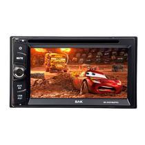 """Reprodutor de DVD Automotivo BAK BK-DVD7865PRO de 6.1"""" com Bluetooth/USB/SD - Preto"""