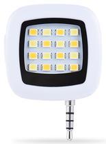 Mini Flash Portatil para Celular Selfie Quanta QTMFP016 - 16LED Branco