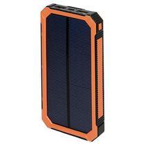 Carregador Portatil Solar Quanta PT6400 12000MAH Lanterna LED Preto Laranja