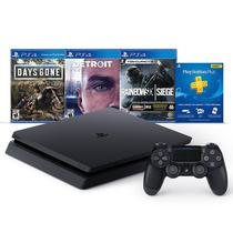 Console Sony Playstation 4 Slim 1TB + Days Gone + Detroit + Rainbow Six Siege